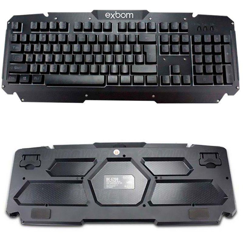 Kit Teclado Semi Mecânico Mouse Headset 7.1 Gamer Usb P2 Abnt2 Led BKG200 GM600 KP401 Preto