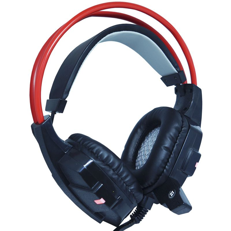 Kit Teclado Semi Mecânico Mouse Headset Gamer Usb P2 Abnt2 Led BK152C GM600 GHX20 Preto Vermelho