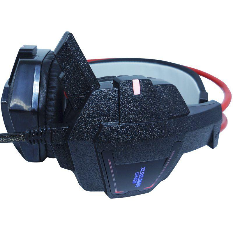 Kit Teclado Semi Mecânico Mouse Headset Gamer Usb P2 Abnt2 Led Metal BKG3000 GHX20 Grafite Vermelho