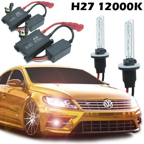 Kit Xenon Automotivo Hid H27 12000K Carro Farol Par Lâmpadas 12V 35W Milha