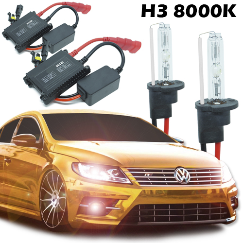 Kit Xenon Carro 12V 35W H3 8000K  - BEST SALE SHOP