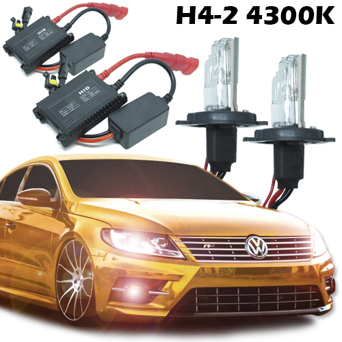 Kit Xenon Carro 12V 35W H4-2 4300K