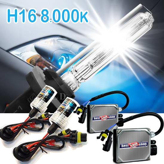 Kit Xenon Carro 12V 35W Jl Auto Parts H16 8000K  - BEST SALE SHOP