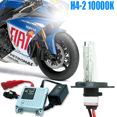 Kit Xenon Moto 12V 35W H4-2 10000K - BEST SALE SHOP