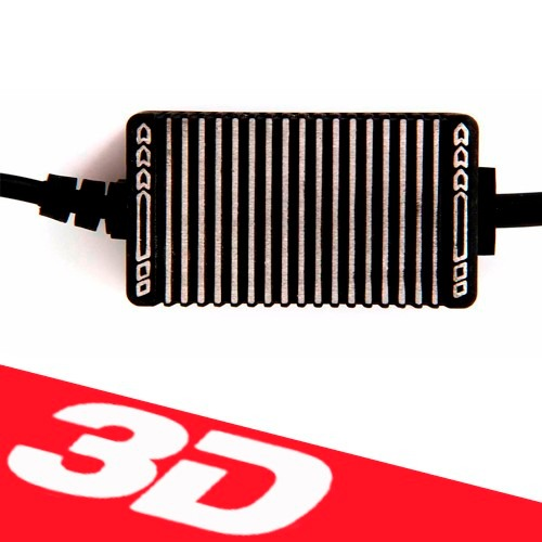 Lâmpada Super Led 3600 Lumens 12V 24V 40W Shocklight Power Led 3D H4 (Bi) 6000K