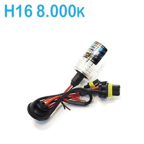Lâmpada Xenon Reposição 12V 35W H16 8000K