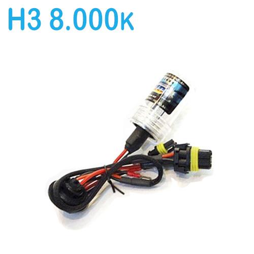 Lâmpada Xenon Reposição 12V 35W H3 8000K
