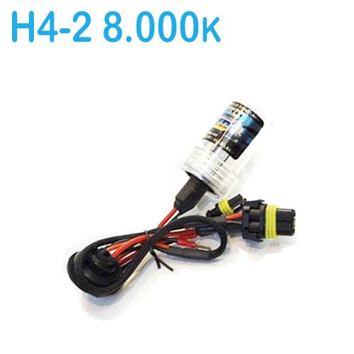 Lâmpada Xenon Reposição 12V 35W H4-2 8000K
