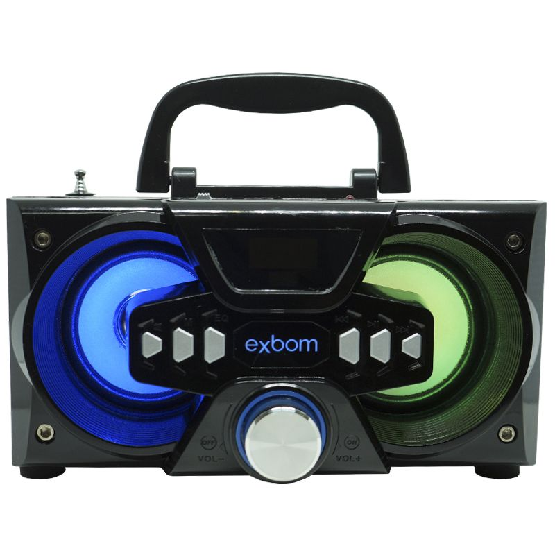 Mini Caixa Som Portátil Bluetooth Amplificada Mp3 Fm Usb Sd Exbom 10W Rms