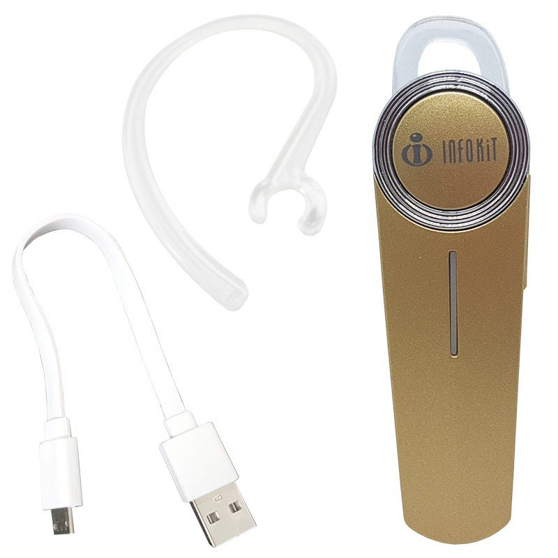 Mini Fone de Ouvido Bluetooth 4.1 com Microfone sem Fio para Celular Infokit HBT-10