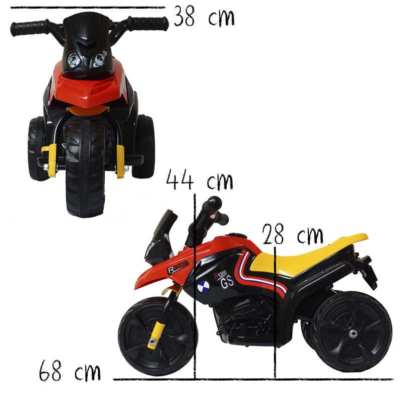 Mini Moto Elétrica Triciclo Criança Infantil Bivolt Bateria 6V