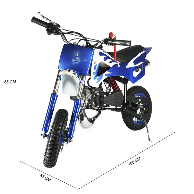 Mini Moto Infantil Gasolina 2 Tempos 49CC Cross Trilha Off Road Importway DTCR-008 Dirt Azul