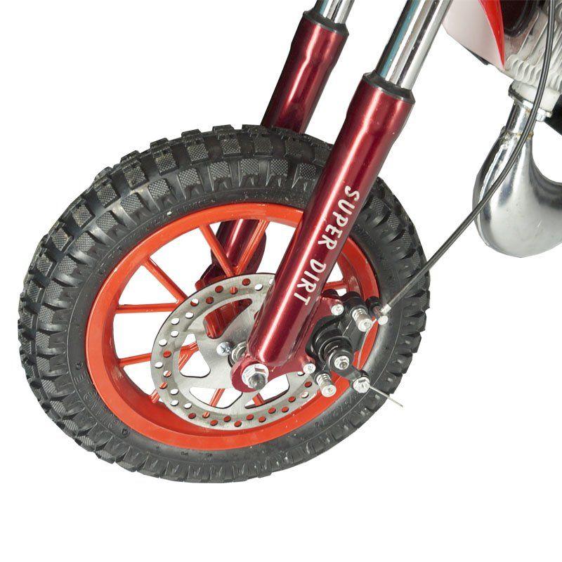 Mini Moto Infantil Gasolina 2 Tempos 49CC Cross Trilha Off Road Importway DTCR-008 Dirt Vermelha