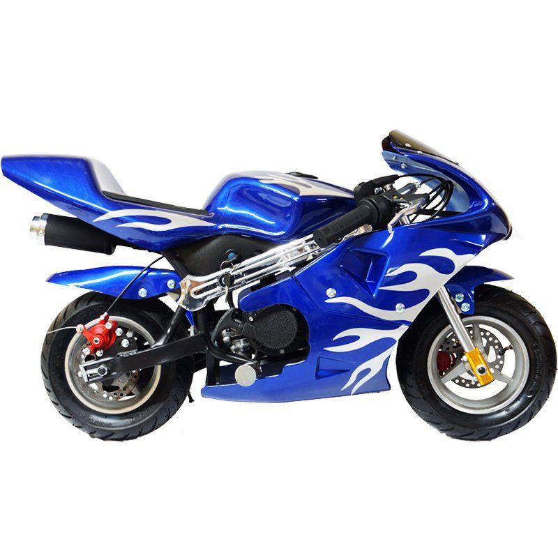 Mini Moto Infantil Gasolina 2 Tempos 49CC Speed Ninja GP Esportiva Importway WVPR-204 Azul