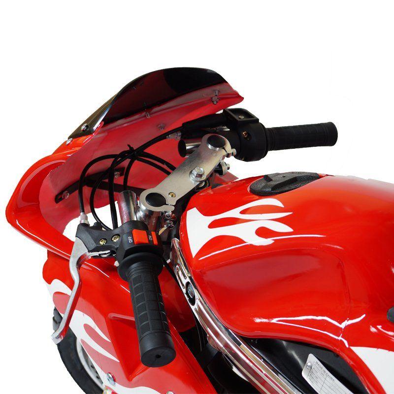 Mini Moto Infantil Gasolina 2 Tempos 49CC Speed Ninja GP Esportiva Importway WVPR-204 Vermelha