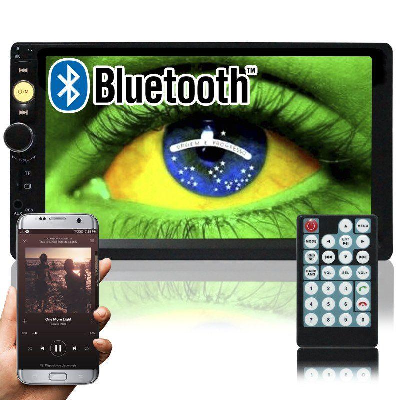 Multimídia Mp5 Vídeo Player Bluetooth Automotivo 2 Din Tela 7.0 Knup KP-C19 Som Fm Usb Sd Aux  - BEST SALE SHOP