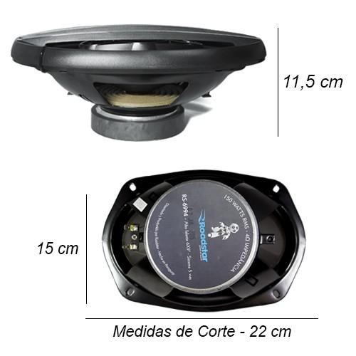 Par Alto Falante 6x9 Polegadas 300W Rms 5 Vias Pentaxial Roadstar RS-6994