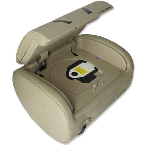 Par Encosto Cabeça Tela Monitor 1 Leitor Dvd Tech One Standard Bege