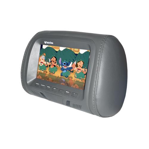 Par Encosto Cabeça Tela Monitor 1 Leitor Dvd Tech One Standard Grafite