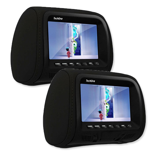 Par Encosto Cabeça Tela Monitor Escravo Tech One Standard Preto  - BEST SALE SHOP