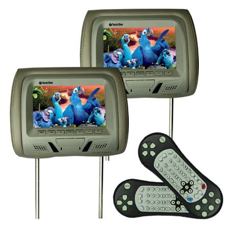 Par Encosto Cabeça Tela Monitor Leitor Dvd Tech One Standard Cinza  - BEST SALE SHOP