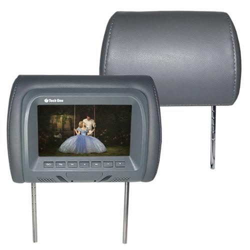 Par Encosto Cabeça Tela Monitor Leitor Dvd Tech One Standard Grafite  - BEST SALE SHOP