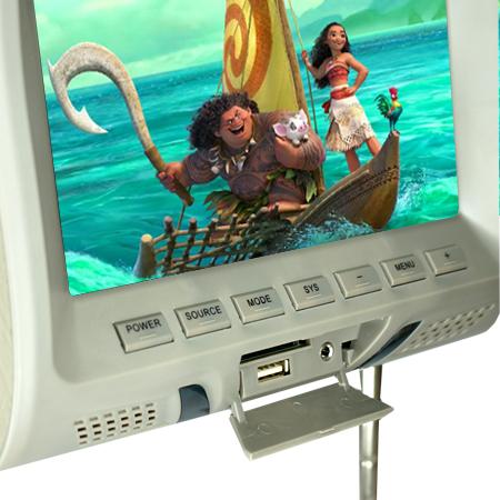 Par Encosto Cabeça Tela Monitor Usb SD IR Tech One Standard Cinza  - BEST SALE SHOP