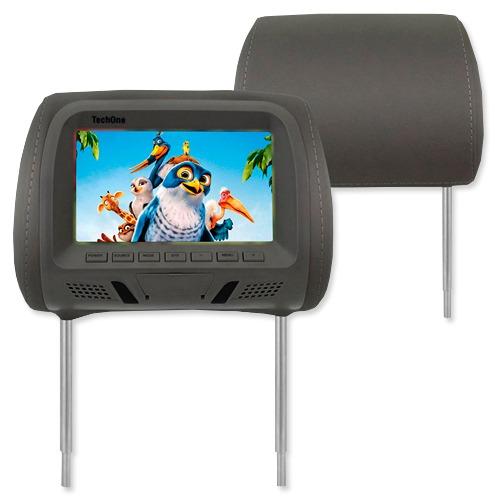 Par Encosto Cabeça Tela Monitor Usb SD IR Tech One Standard Grafite