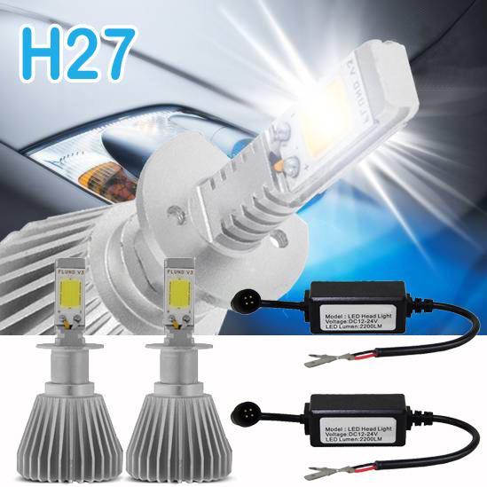 Par Lâmpada Super Led 4400 Lumens 12V 24V H27 6000K