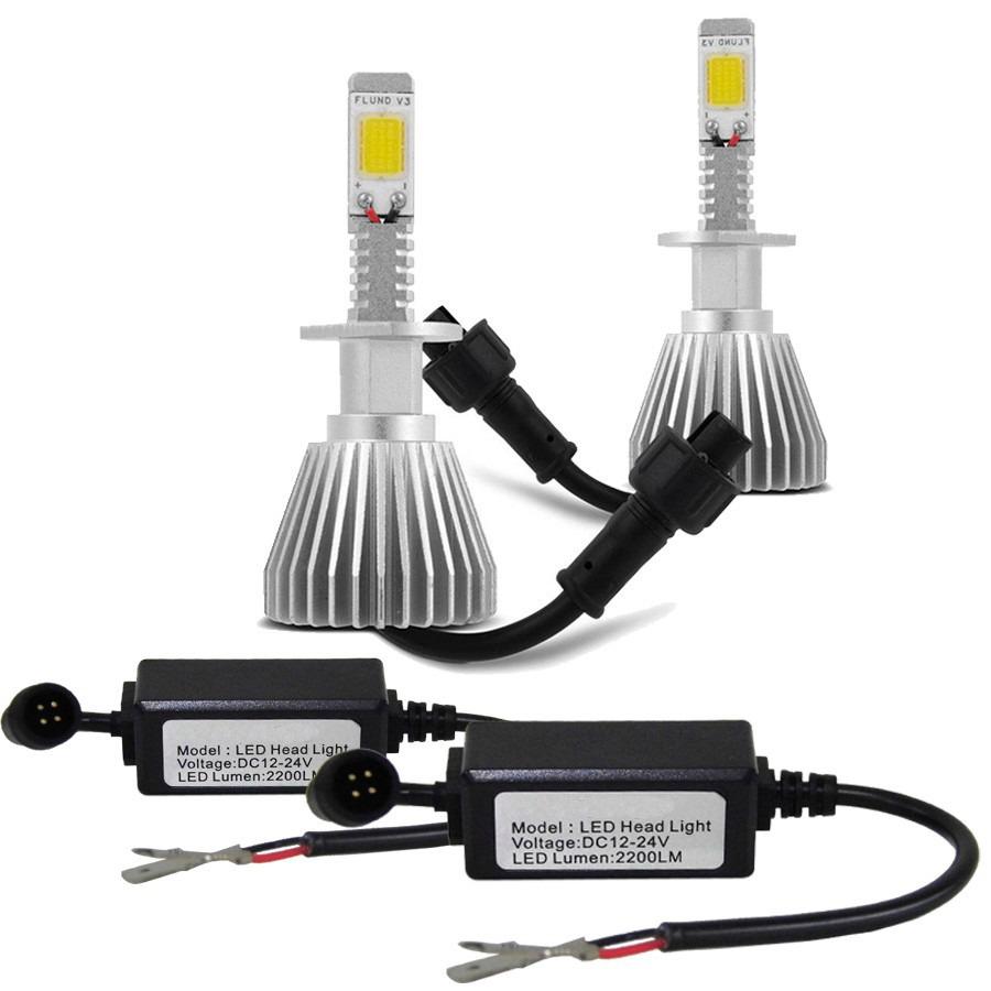 Par Lâmpada Super Led 4400 Lumens 12V 24V H27 6000K  - BEST SALE SHOP