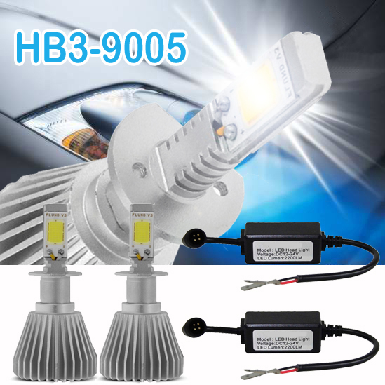 Par Lâmpada Super Led 4400 Lumens 12V 24V Hb3 6000K