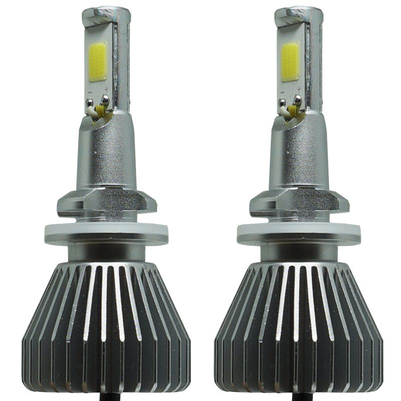 Kit Par Lâmpada Super Led Automotiva Farol Carro H27 6000 Lumens 12V 24V First Option 6000K