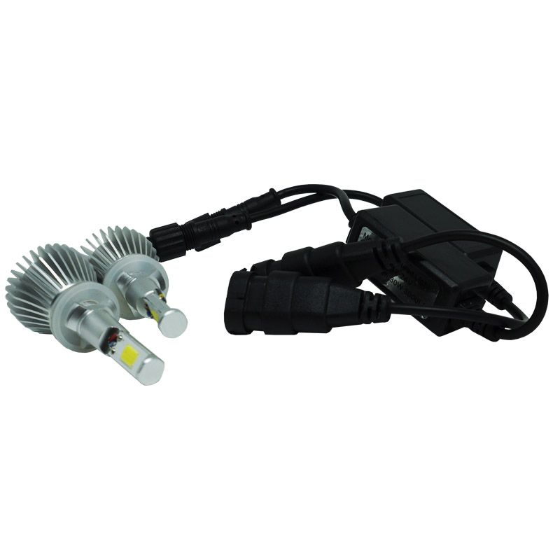 Kit Par Lâmpada Super Led Automotiva Farol Carro H27 6000 Lumens 12V 24V First Option 6000K  - BEST SALE SHOP