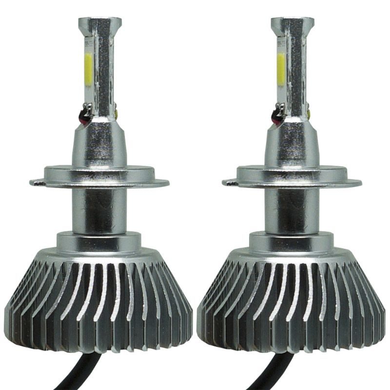 Kit Par Lâmpada Super Led Automotiva Farol Carro H7 6000 Lumens 12V 24V First Option 6000K