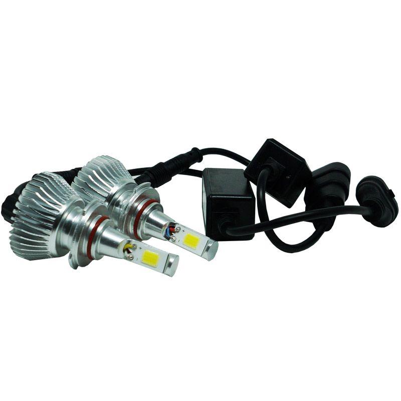 Kit Par Lâmpada Super Led Automotiva Farol Carro HB3 9005 6000 Lumens 12V 24V First Option 6000K