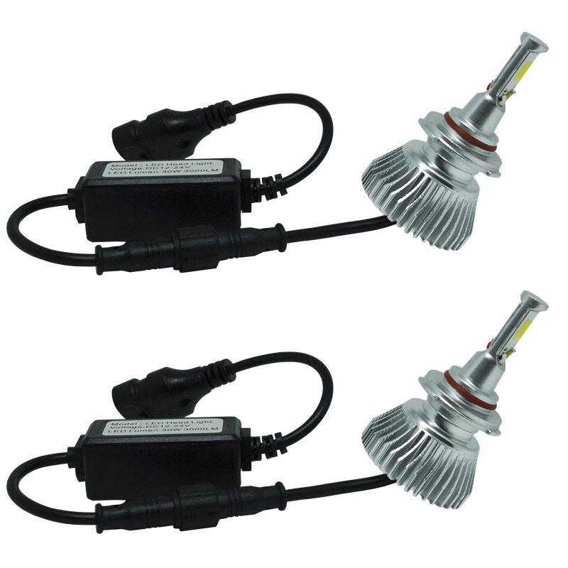Kit Par Lâmpada Super Led Automotiva Farol Carro HB4 9006 6000 Lumens 12V 24V First Option 6000K  - BEST SALE SHOP