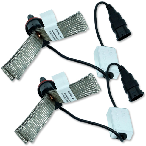 Par Lâmpada Super Led 6400 Lumens 12V 24V H11 Manta Flex 6000K