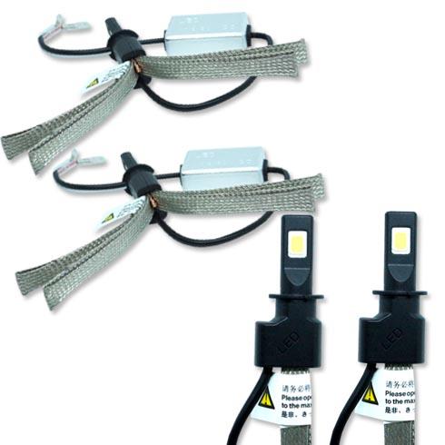 Par Lâmpada Super Led 6400 Lumens 12V 24V H3 Manta Flex 6000K