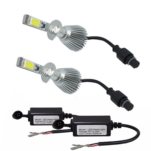 Par Lâmpada Super Led 6400 Lumens 12V 24V H1+H1 6000K  - BEST SALE SHOP