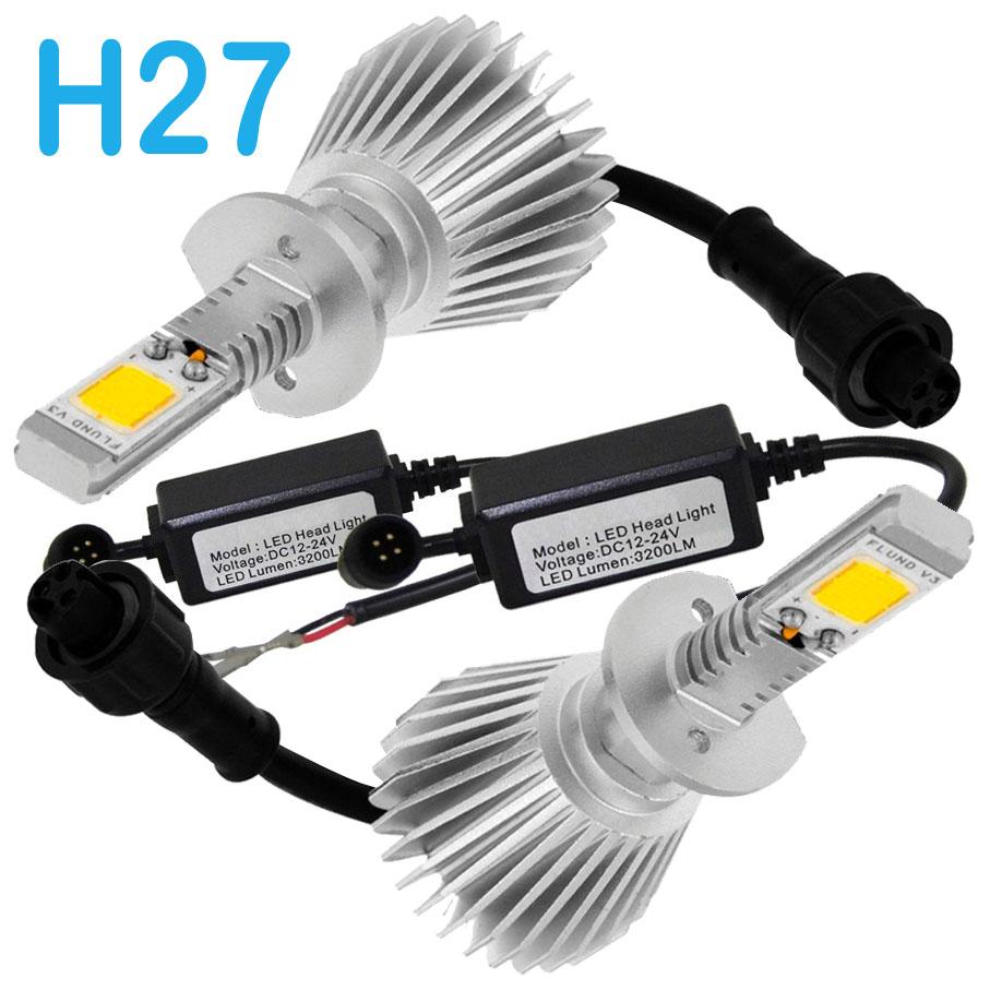 Par Lâmpada Super Led 6400 Lumens 12V 24V H27 6000K