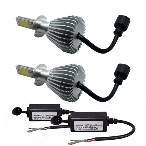 Par Lâmpada Super Led 6400 Lumens 12V 24V H3+Hb3 6000K  - BEST SALE SHOP