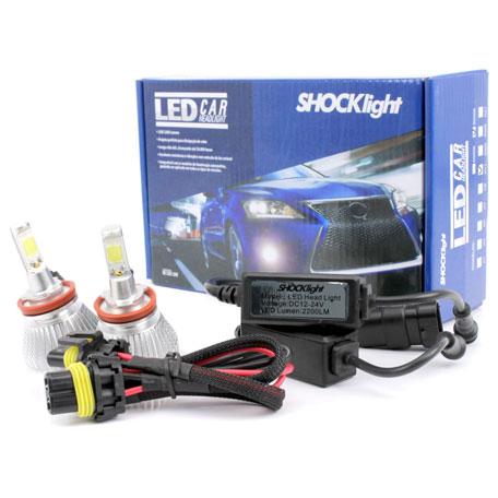 Par Lâmpada Super Led 4400 Lumens 12V 24V 32W Shocklight H11 6000K