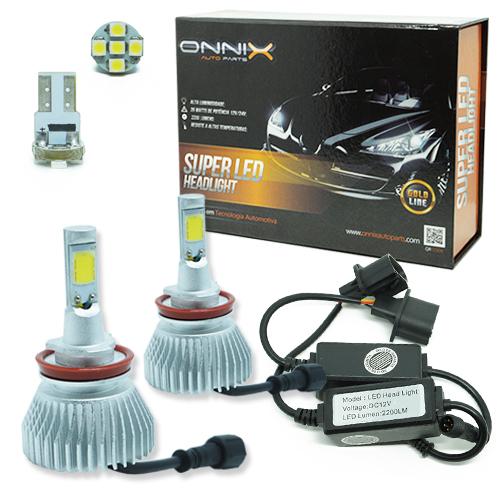 Par Lâmpada Super Led 4400 Lumens 12V 24V 35W Onnix H11 6000K  - BEST SALE SHOP