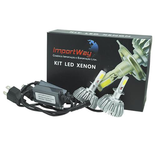 Par Lâmpada Super Led 6000 Lumens 12V 24V 40W Importway H3 6000K  - BEST SALE SHOP