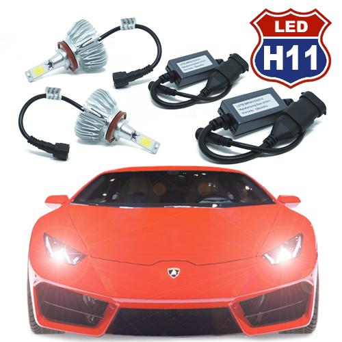Par Lâmpada Super Led 6000 Lumens 12V 24V H11 6000K  - BEST SALE SHOP