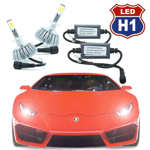 Par Lâmpada Super Led 6000 Lumens 12V 24V H1 6000K