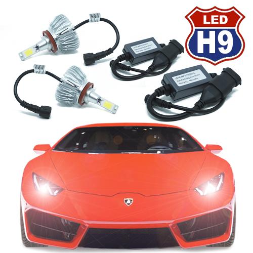 Par Lâmpada Super Led 6000 Lumens 12V 24V H9 6000K  - BEST SALE SHOP