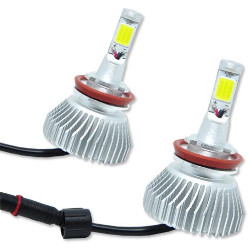 Par Lâmpada Super Led 6400 Lumens 12V 24V 32W Velox Parts H11 6000K  - BEST SALE SHOP