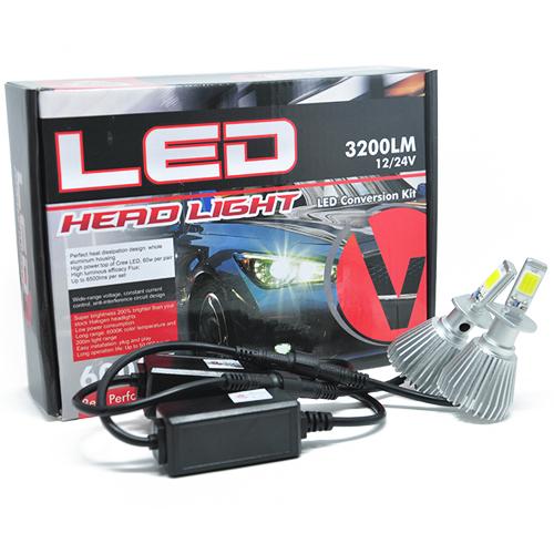 Par Lâmpada Super Led 6400 Lumens 12V 24V 32W Velox Parts H1 6000K  - BEST SALE SHOP