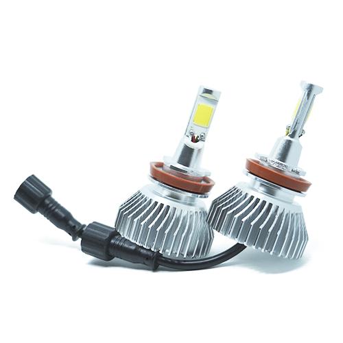 Par Lâmpada Super Led 6400 Lumens 12V 24V 35W Shocklight H11 6000K  - BEST SALE SHOP